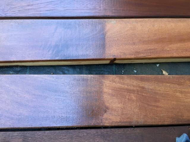 イタウバにローズウッドを2度塗り01